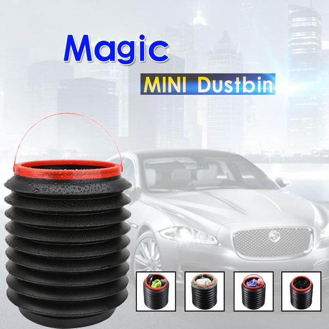 2016 veículo Dobrável mini magia caixote do lixo balde de lixo de carro telescópica multi-função