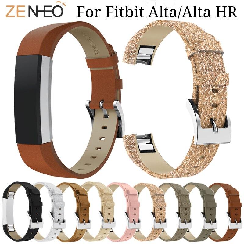 Correa de cuero suave para Fitbit Alta/Alta HR correa de reloj inteligente reemplazo para Fitbit Alta pulsera Relojes