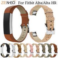 Morbido Cinturino In Pelle Per Fitbit Alta/Alta HR Astuto della vigilanza Cinturino di Ricambio Per Fitbit Alta Del Wristband Del Braccialetto di orologi Della Fascia