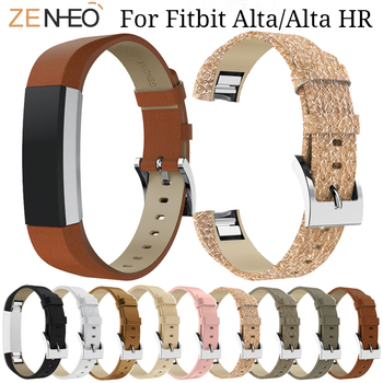Soft Leather Watchband For Fitbit Alta/Alta HR Smart watch Strap Replacement For Fitbit Alta Wristband Bracelet watches Band cool denim chain strap for fitbit alta smart watch frontier classic bracelet for fitbit alta hr trend wristband accessories
