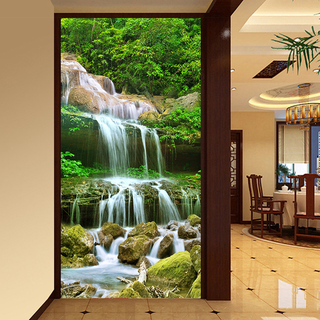 Custom 3D Photo Wallpaper Waterfall Nature Landscape Large Murals Entrance  Living Room Background Wall Mural Wall Paper Embossed Part 97