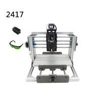 DIY Laser Cnc Milling Machine 2417 Pcb Pvc Engraving Router Wood Lathe Work Travel 240 170