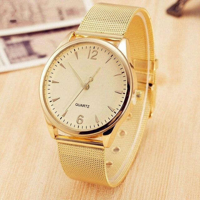 Women Watch 5 Style Famous Brand Golden Casual Quartz Watch Women Mesh Stainless