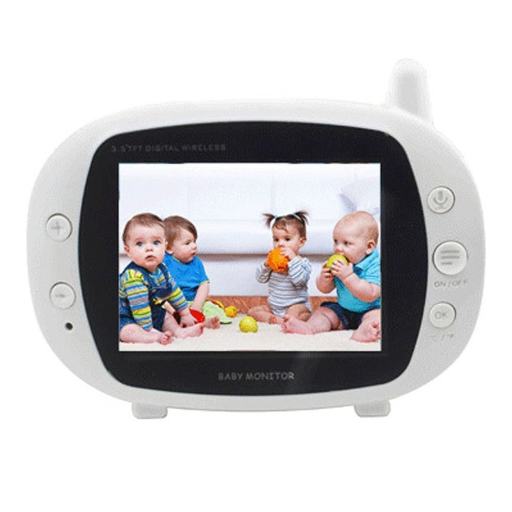 Infant Night Vision Camera TFT LCD Digital Monitor Babysitter 3.5 inch Wireless Video Color Two Way Talk Baby Monitor New Sale цена 2017