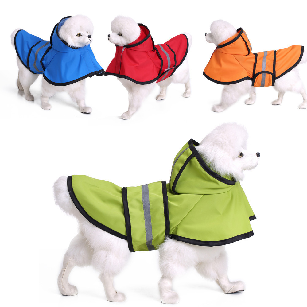 S/M/L/XL/XXL/XXXL Pet Dog Puppy Raincoat Clothes Fashion Pet Rainy Days Slicker Big Dog Raincoat #013