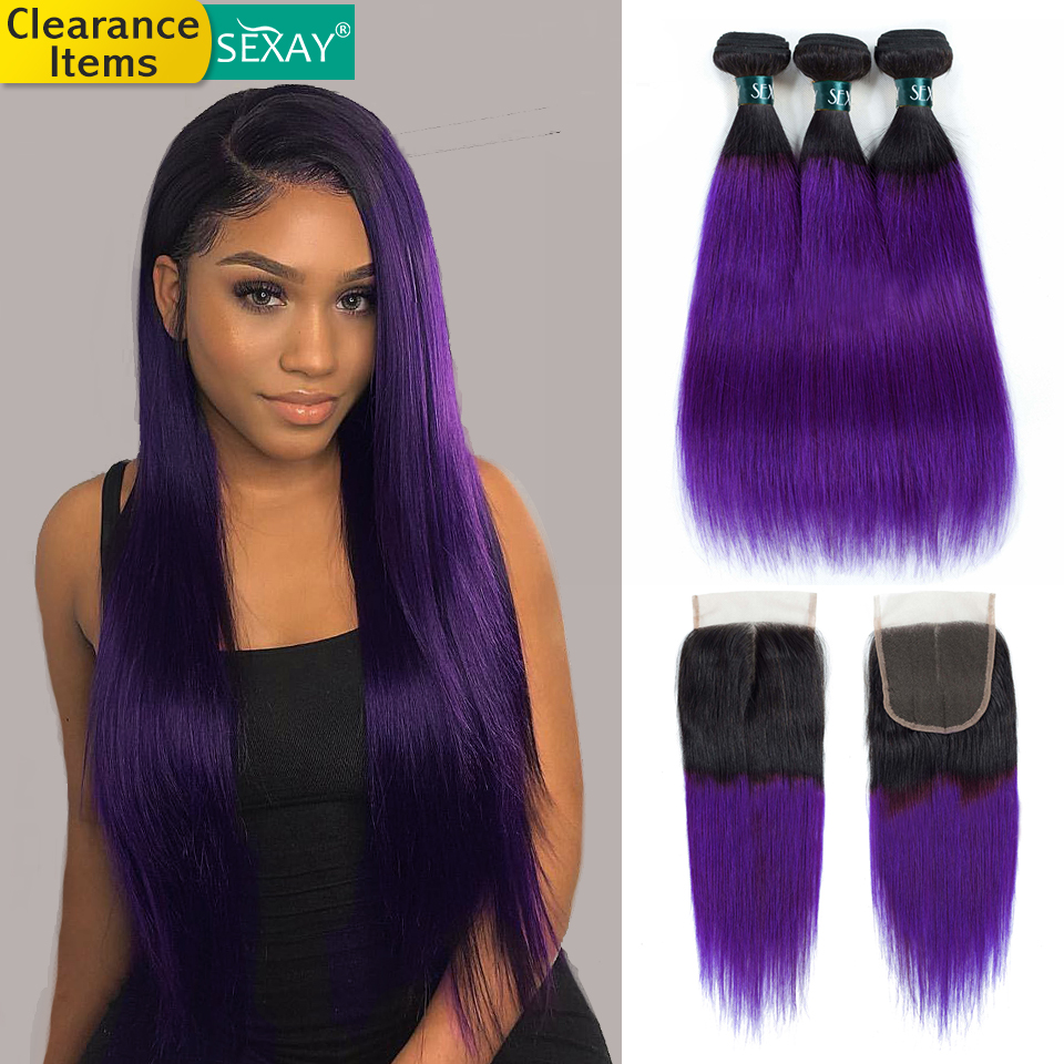 Ombre Bundle s with closure  3 bundles with closure  99j burgundy bundles with closure  27 honey bundles bundles with closure  human hair bundles with closure purple bundles with closure straight hai (9)