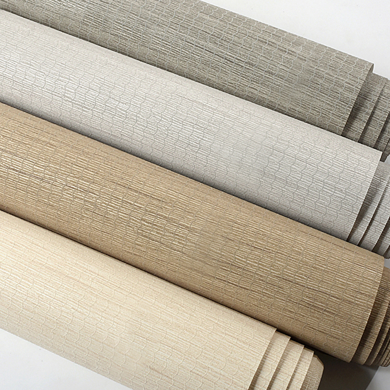 Modern Simple Solid Color Straw Linen Wallpaper Non-woven Grey Wall Paper Roll Living Room Bedroom TV Background Wall Home Decor