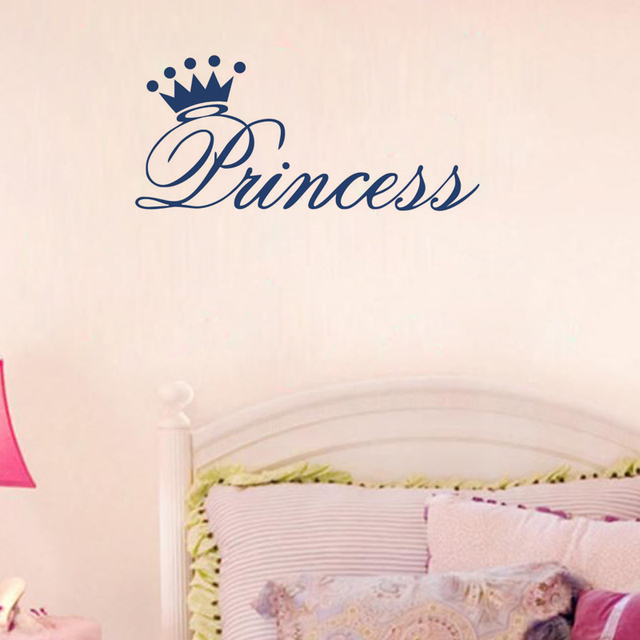 Free shipping: Princess Crown Wall Quote Decals Removable Stickers ...