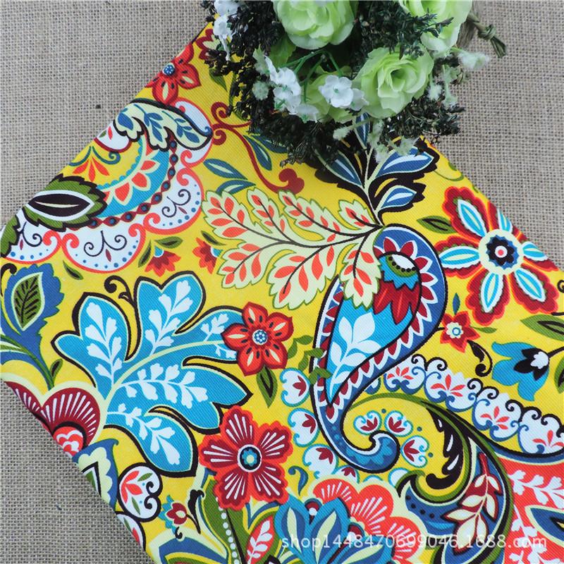 el palacio retro flores amarillo cortina de tela de tela de lona de algodn sof de