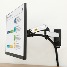 "NB F150 Aluminum Alloy 360 Degree 17"" 27"" Monitor Holder Gas Spring Arm LED LCD TV Wall Mount Loading 2 7kgs"
