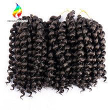 10inch 2X jamaican bounce kinky twist hair tresse crochet braids extensions 80g/pack wand curl crochet Braiding hair
