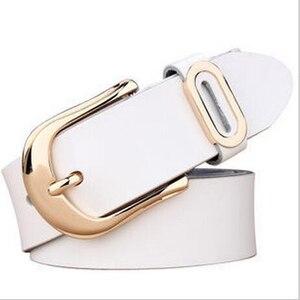 Image 3 - Cinturón de diseñador actual para mujer, cinturones de lujo de marca famosa, correa de cintura para mujer, cinturón con hebilla de cuero genuino
