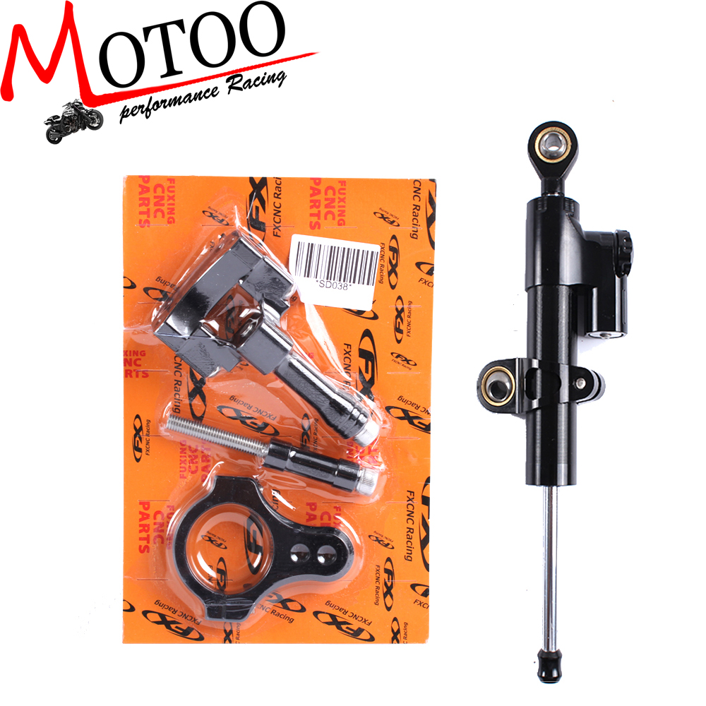 ФОТО Motoo - CNC Steering Damper Complete Set for YAMAHA YZF-R25/R3 2013-2016 with bracket kits
