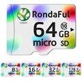 Rondaful Class10 de Tarjeta Micro SD 32 GB 16 GB-128 GB Uhs-1 de 4 GB-8 GB Clase Flash 6 Tarjeta de Memoria Microsd para Teléfonos Inteligentes