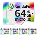 Rondaful Micro SD Card 32GB Class10 16GB-128GB Class10 UHS-1 4GB-8GB Class 6 Memory Card Flash Memory Microsd for Smartphone