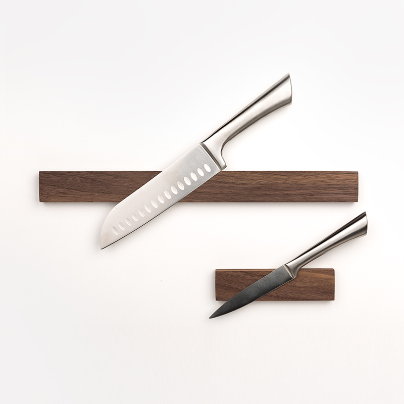1 PSC Wooden Magnet Knife Holder Wall Wall-mount Magnetic Knife Holder Knife Organizer Storage Rack Box