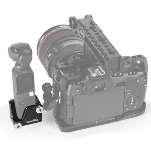 """Image 5 - SmallRig Osmo Cage for DJI Osmo Pocket Features a 3/8"""" 16 and nine 1/4"""" 20 threaded holes for Camera Tripod Attachment  CSD2321"""