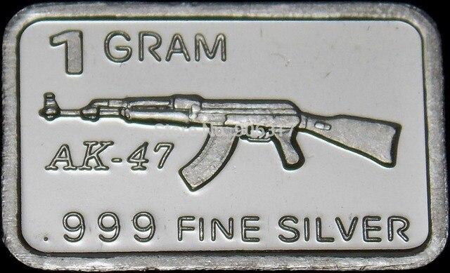 1 Gram Silver Pure Bar Customized Craft Souvenir 10pcs Lot