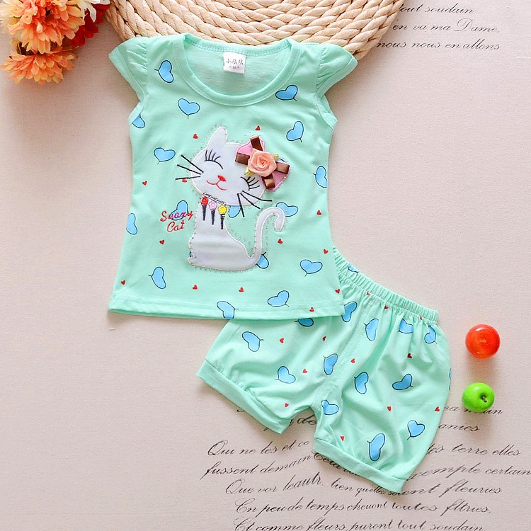 2016-Infant-clothes-toddler-children-summer-baby-girls-clothing-sets-cartoon-2pcs-cat-love-clothes-sets (1)