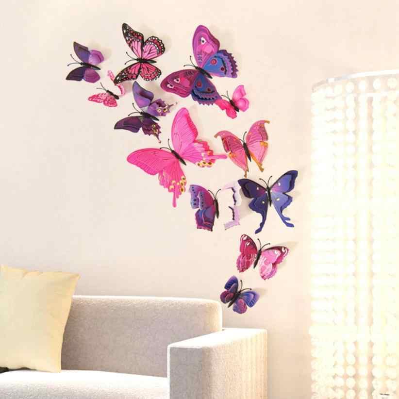 Декор для дома фиолетовая Пряжка для занавесок 12 штук в наборе Декор для дома бабочка булавка с наклейкой Украшение Искусство 28 июля