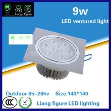 9W LED Grille lamp AC85-265V single head ceiling lamp energy saving LED downlight spotlight