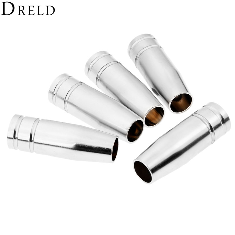 DRELD 5pcs MIG Welding Torch MB15AK Conical Nozzles Parts Welding Accessories Shield Cup Welding & Soldering Supplies