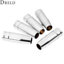 DRELD 5pcs MIG Welding Torch MB15AK Conical Nozzles Parts Accessories Shield Cup & Soldering Supplies