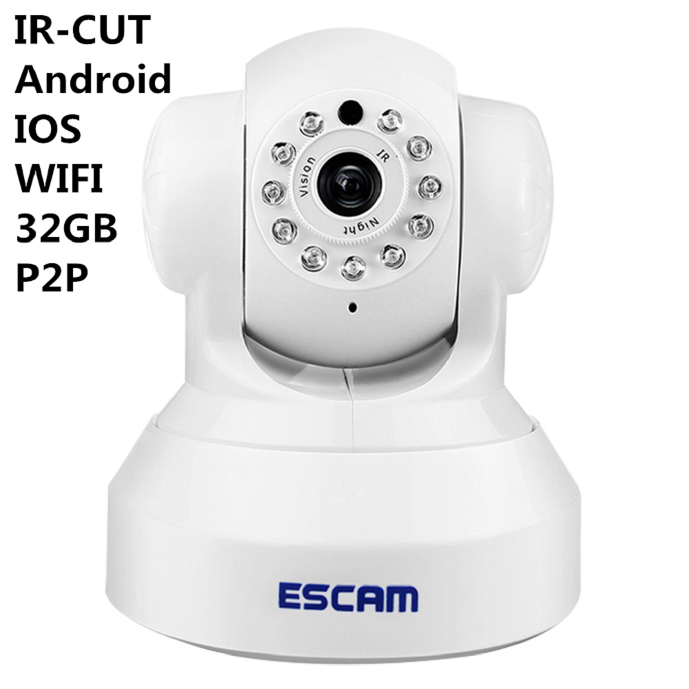 ФОТО ESCAM QF001 IP Digital Surveillance Camera Photo 1/4 Indoor Wireless Camera WIFI 802.11b/g/n Night Vision HD 720P Support Alarm