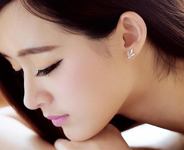 Cheap Sterling Silver Angel Wing Earrings Studs