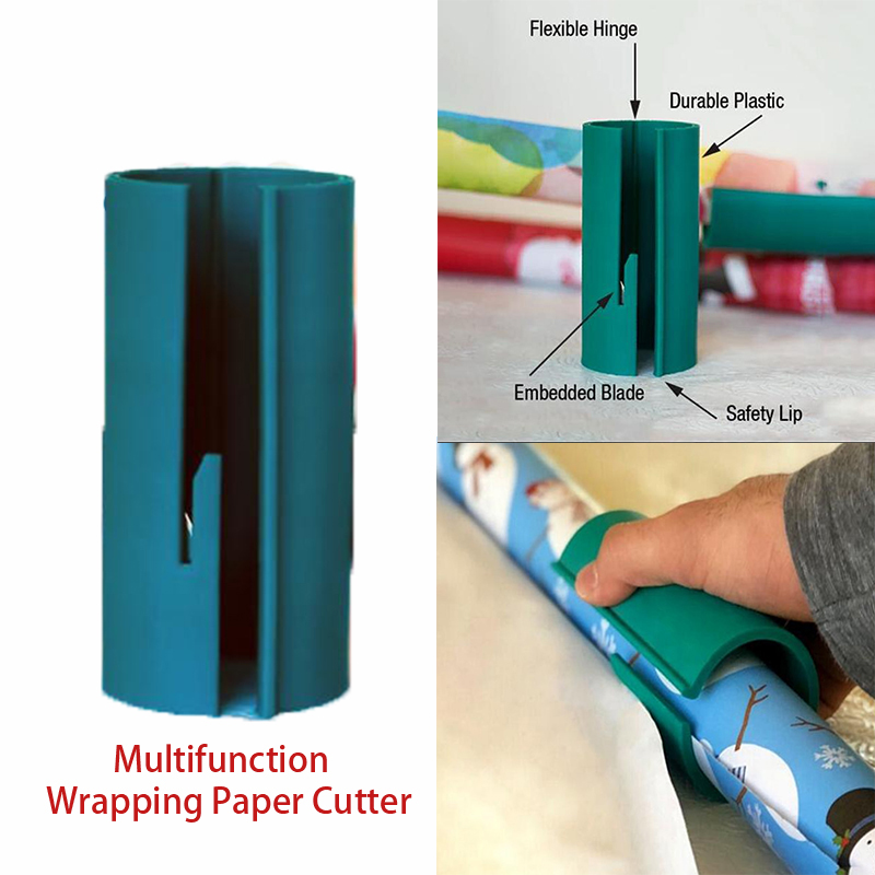 Sliding Wrapping Paper Cutter Christmas Gift Wrapping Paper Cutter Cuts the Perfect Line Every Single TimeSliding Wrapping Paper Cutter Christmas Gift Wrapping Paper Cutter Cuts the Perfect Line Every Single Time