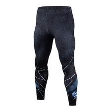 2018The latest model, the cheapest 3D printing men's pants fashion jogger men's bodybuilding fitness Crossfit pants soft legging(China)