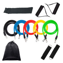 Resistance Bands Set Latex Fitness tube Elastic crossfit Exercise Bands for Yoga Pilates Pull rope Chest exerciser цена