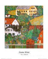 artwork of Gustav Klimt Houses at Unterach art reproduction paintings handmade High Quality