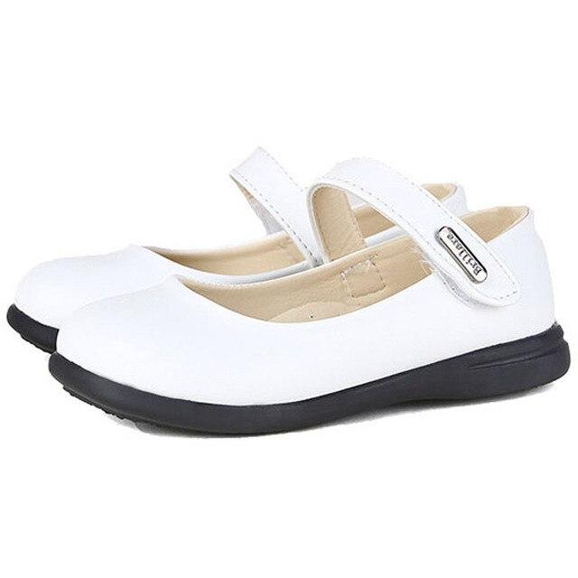 Ankle Strap Kids Girls Dress Shoes Shallow Children School Shoes 2017 Toddler Girl Student Shoes Princess Shoes Kinder schoenen