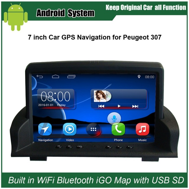 Upgraded Original Android Car Radio Player Suit to Peugeot 307 Car