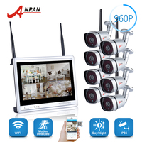 960P P2P 8CH WIFI NVR 12 Inch LCD Monitor 36 IR Waterproof Security 1 3MP Wireless