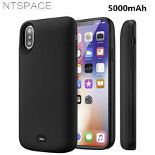 NTSPACE 5000mAh Portable Battery Charger Case For iPhone X Xs Power External Bank Pack