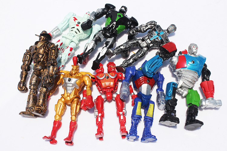 Image 5 - 8pcs/lot 12cm Real Steel Toys Atom Ambush Zeus Metro Twin Cities Noisy Boy Action Toy Figures Collection Model-in Action & Toy Figures from Toys & Hobbies