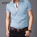 New Mens Shirts Fashion 2016 Spring And Summer Short-Sleeved Casual Shirt Men Brand Design Formal Shirt Luxury Shirts For Men