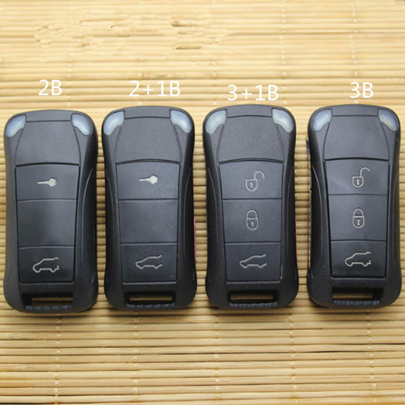 DAKATU  2/2+1/3/3+1 Button Flip Folding Remote Car Key Shell Case For Porsche Cayenne GTS Replacement Remote Shell