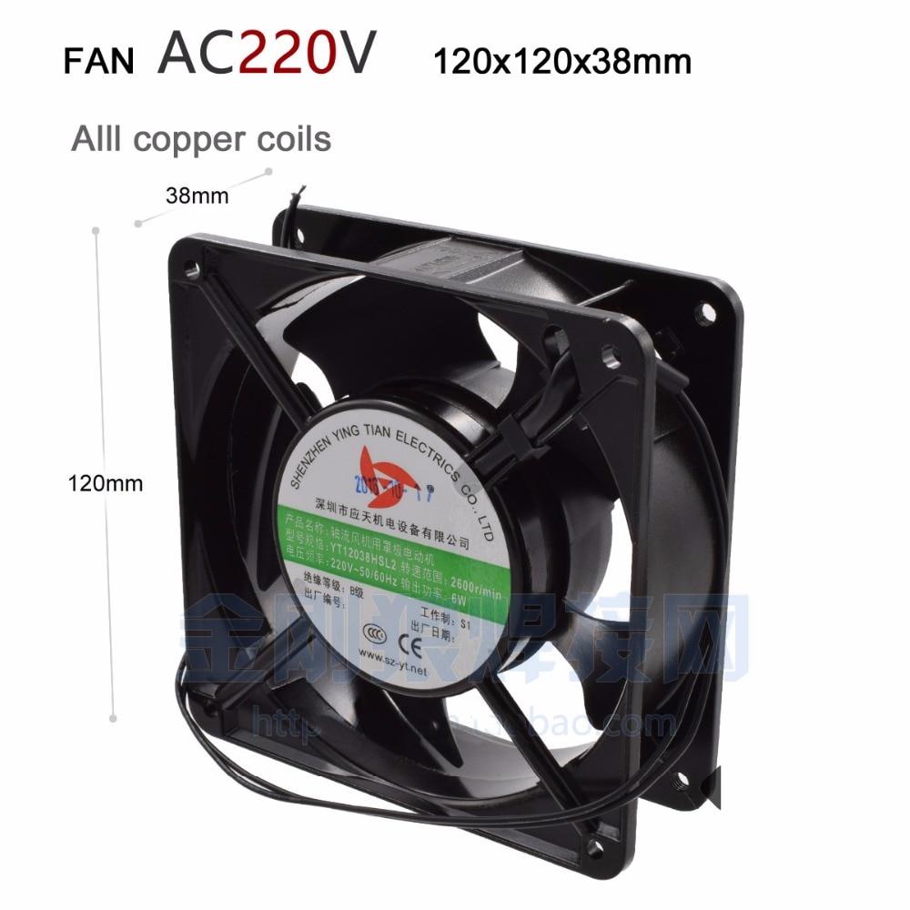 Ventilateur Ventilateur À Faible Bruit Ventilateur Axial 220 V 120X120X38mm De Refroidissement Fan Utilisation Pour Ozoneur Accessoires à souder Tin D'échappement YT12038HSL2