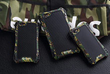ip6 Silicon Shock Proof Metal Case For iPhone 6 4.7 inch iPhone6s Plus 5.5 Skin Protection Cover Armor Shell Army Camouflage