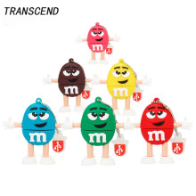 Transcend Usb Flash Cute Cartoon M & M Chocolate Memory Stick Driver Pendrive2.0 4GB 8GB 16GB 32G 64GB USB Flash Drive Pendrive