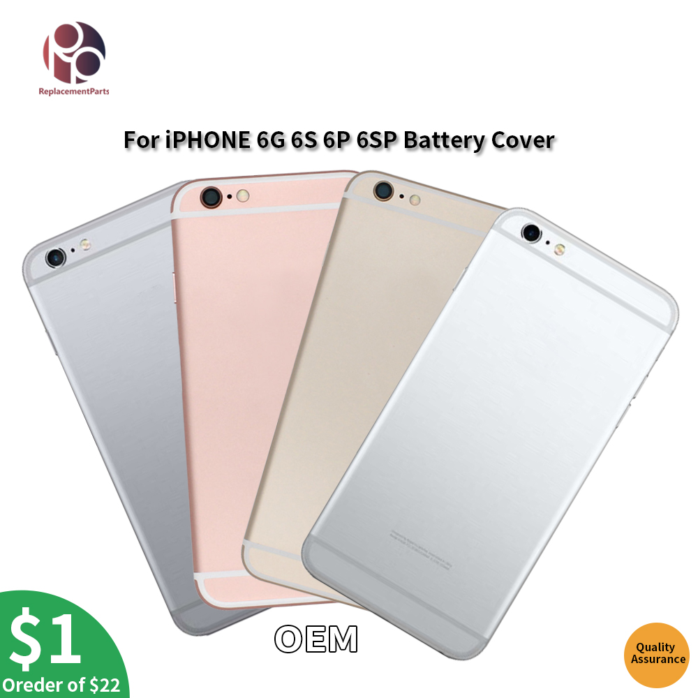 Back Housing Battery Cover For iPhone 6G 6S 6P 6S Plus Door Rear Cover Full Chassis