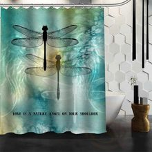 Best Nice Custom Dragonfly Shower Curtain Bath Waterproof Fabric For Bathroom MORE SIZE W