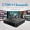 Android 6.0 Caixa de TV S905X 1G/8G KODI 16.0 1080 p TV Inteligente Canais de caixa com Livre Árabe IPTV Europa Itália Céu Canal de Esportes filmes