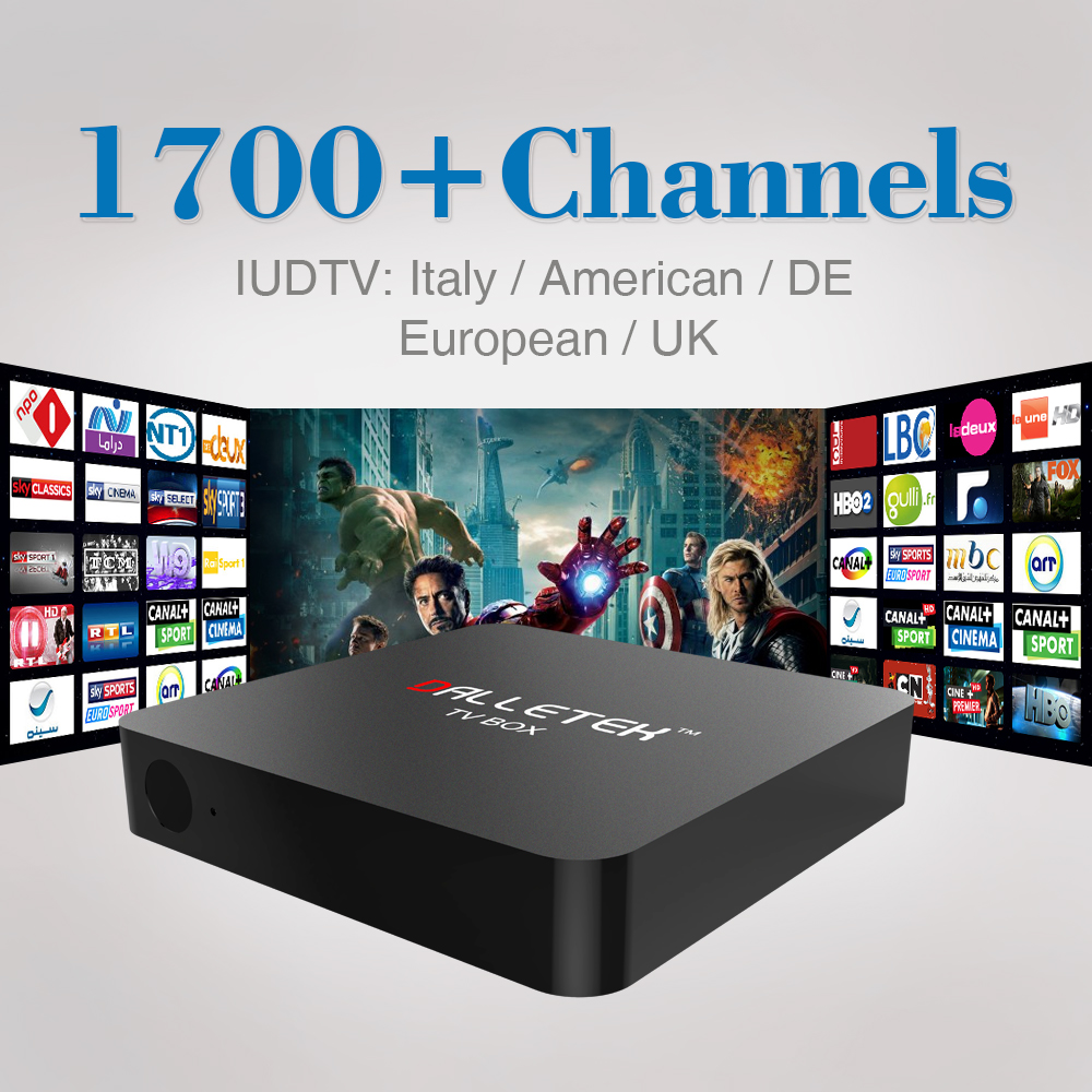 ФОТО Android 6.0 TV Box S905X 1G/8G KODI 16.0 1080p Smart TV Box with Free IPTV Europe Arabic Italy Channels Canal Sports Movies