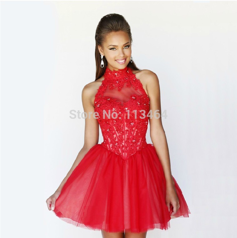 Images of Short Poofy Homecoming Dresses - Reikian