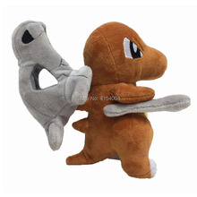 10 PCS/Lot Anime Cubone Stuffed Plush Cartoon Peluche Dolls Christmas Gift Baby Toys For Children