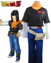 Dragon Ball Z Android 17 Lapis Cosplay Costume Anime Custom